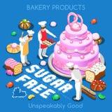 Nourriture de la pâtisserie 03 isométrique Images libres de droits