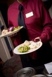 Nourriture de mariage étant servie Photographie stock libre de droits