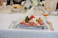 Nourriture de mariage Photos libres de droits