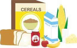 Nourriture de matin illustration de vecteur