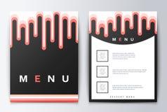 Nourriture de menu de conception Photographie stock libre de droits