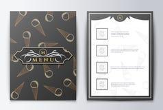 Nourriture de menu de conception Photos stock