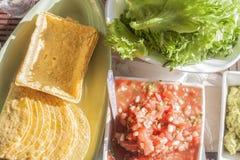 Nourriture de mex de Tex images libres de droits