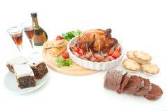 Nourriture de Noël Photographie stock libre de droits