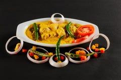 Nourriture de Non-Veg d'Indien avec le poulet et les laits caillés image stock