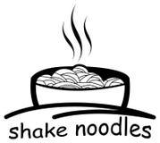 Nourriture de nouilles de secousse Photo stock