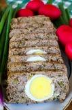 Nourriture de Pâques de Roumain - Drob photo stock