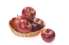 nourriture de panier de pomme Photo stock