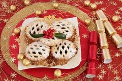 Nourriture de partie à Noël photo libre de droits