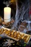 Nourriture de partie de Halloween photographie stock libre de droits