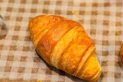 Nourriture de petit déjeuner de croissants images libres de droits