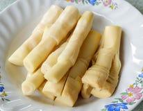 Nourriture de pousse de bambou Image libre de droits