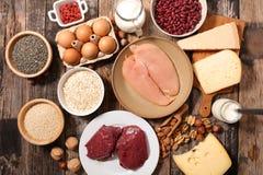 Nourriture de protéine image libre de droits