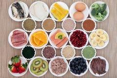 Nourriture de régime de musculation Photo libre de droits