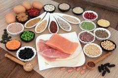 Nourriture de régime de musculation Images stock