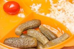 Nourriture de régime pour la perte de poids sur des légumes photo stock