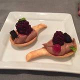 Nourriture de restaurant de dessert Images libres de droits