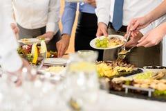 Nourriture de restauration d'affaires pour la célébration de compagnie photographie stock