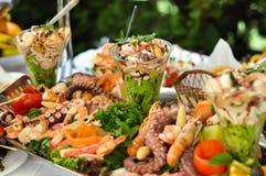 Nourriture de restauration, fruits de mer, fin  Photo stock