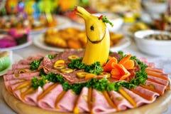 Nourriture de restauration servie sur la table Image libre de droits