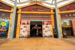 Nourriture de rue de beaucoup de pays à l'île Singapour de Sentosa Photos stock