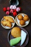 Nourriture de rue du Vietnam, prêt-à-manger Image stock