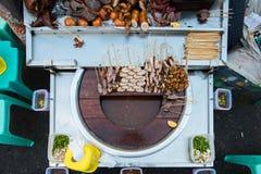Nourriture de rue de Myanmar Image libre de droits