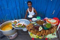 Nourriture de rue de Yangon Photo stock