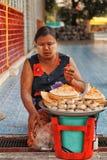 Nourriture de rue, Yangon photographie stock libre de droits