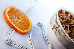 Nourriture de santé et déjeuner de régime Photo stock