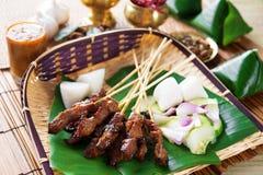 Nourriture de Satay Indonésie Images libres de droits