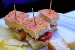 Nourriture de surplus de réception Photo libre de droits