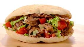 Nourriture de turc de Doner Kebab banque de vidéos