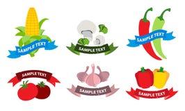 Nourriture de végétarien de logos Photos stock