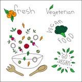 Nourriture de Vegan illustration stock