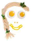 Nourriture de visage Image stock
