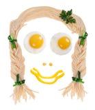 Nourriture de visage Images stock
