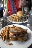 Nourriture de wagon-restaurant image libre de droits