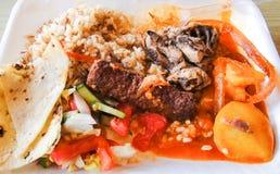 Nourriture des bédouins de l'Egypte photographie stock