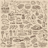 Nourriture différente Photographie stock libre de droits