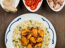 Nourriture douce et aigre de Chinois de poulet photo stock
