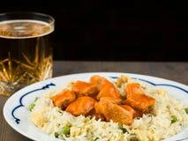 Nourriture douce et aigre de Chinois de poulet photo libre de droits