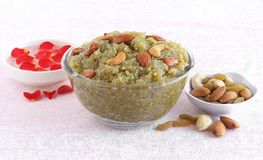 Nourriture douce indienne Lauki Halwa Images stock