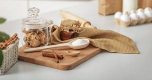 Nourriture douce sur la table domestique Photo stock