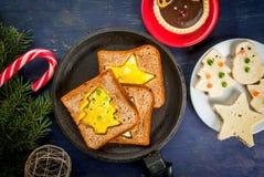Nourriture drôle de Noël pour des enfants Images stock
