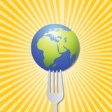 Nourriture du dessin-modèle du monde illustration stock
