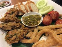 Nourriture du nord de la Thaïlande Photos stock