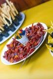 Nourriture en acier Images stock