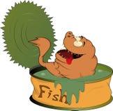 Nourriture en boîte de poissons illustration stock