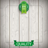 Nourriture en bois de ruban d'emblème bio Photo stock